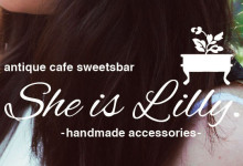 "acoustics stylusさん横""She is Lilly""-antique sweetsbar-handmade acccesorries-熊本 カフェ スウィーツバー 下通り シャワー通り nolum,meek."