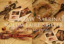 "2013AW nolum part.1/""Sabrina""Faire Briller(フェーブリーユ)She is Lilly.ハンドメイドカフェ女子会熊本飲み放題結婚式二次会"